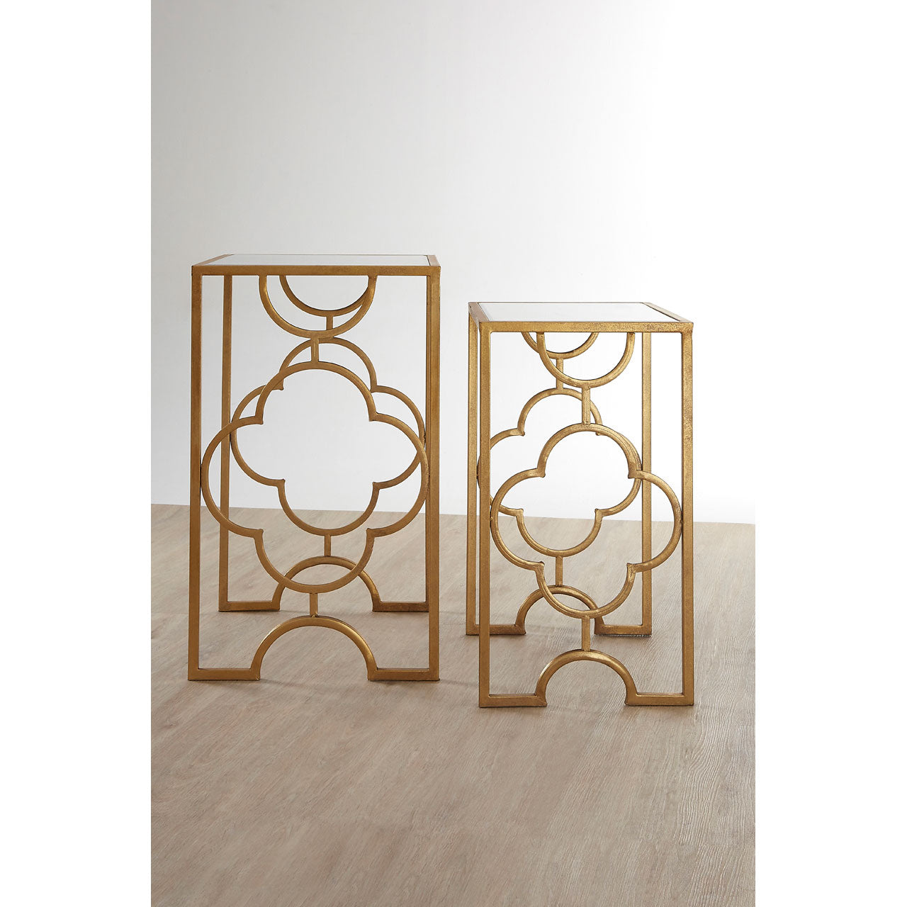 Merlin Side Tables Gold Leaf