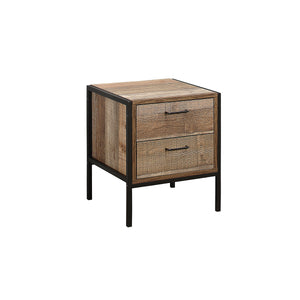 Metro 2 Drawer Bedside Table