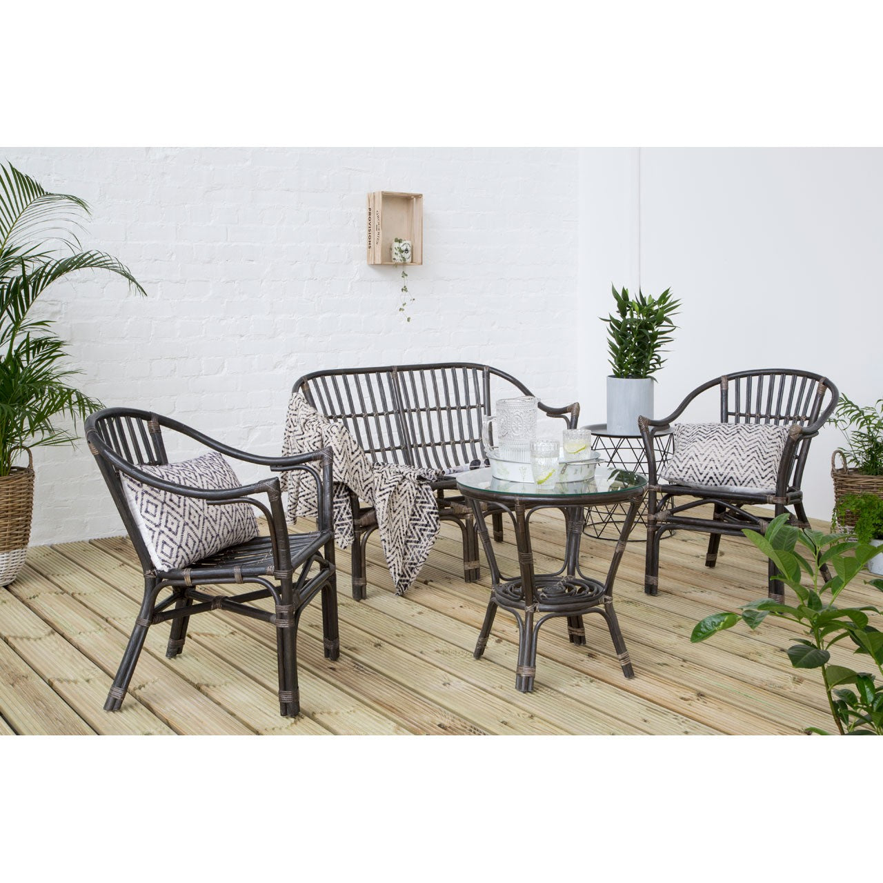 Milano Black Rattan Furniture Set
