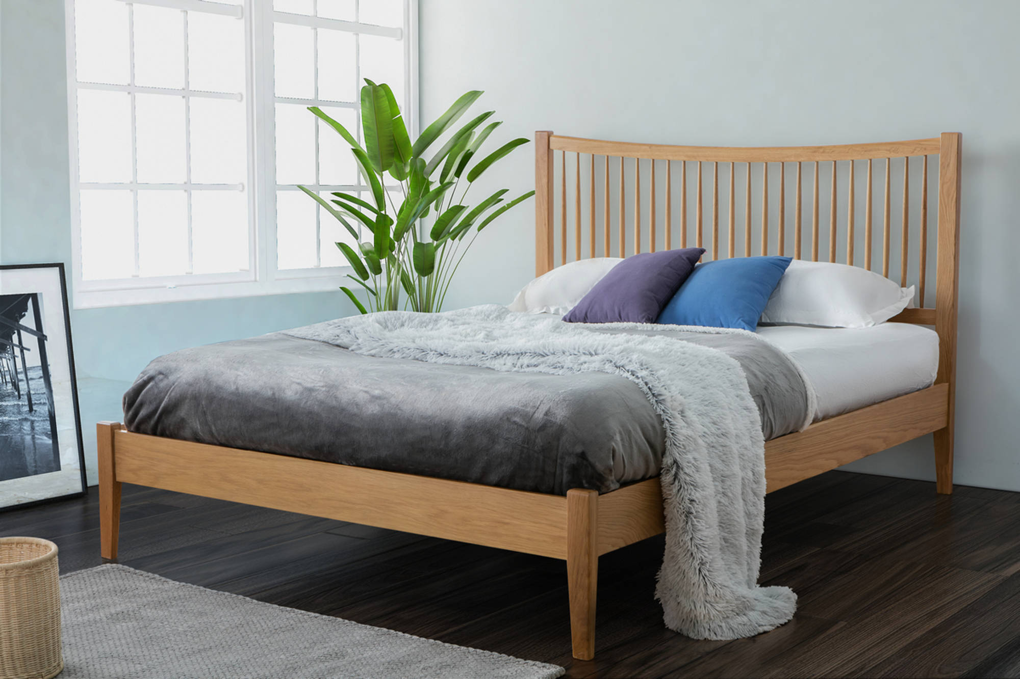 Murton King Size Bed in Oak - Ezzo
