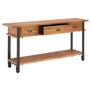 New Foundry Console Table 3 Draw Fir
