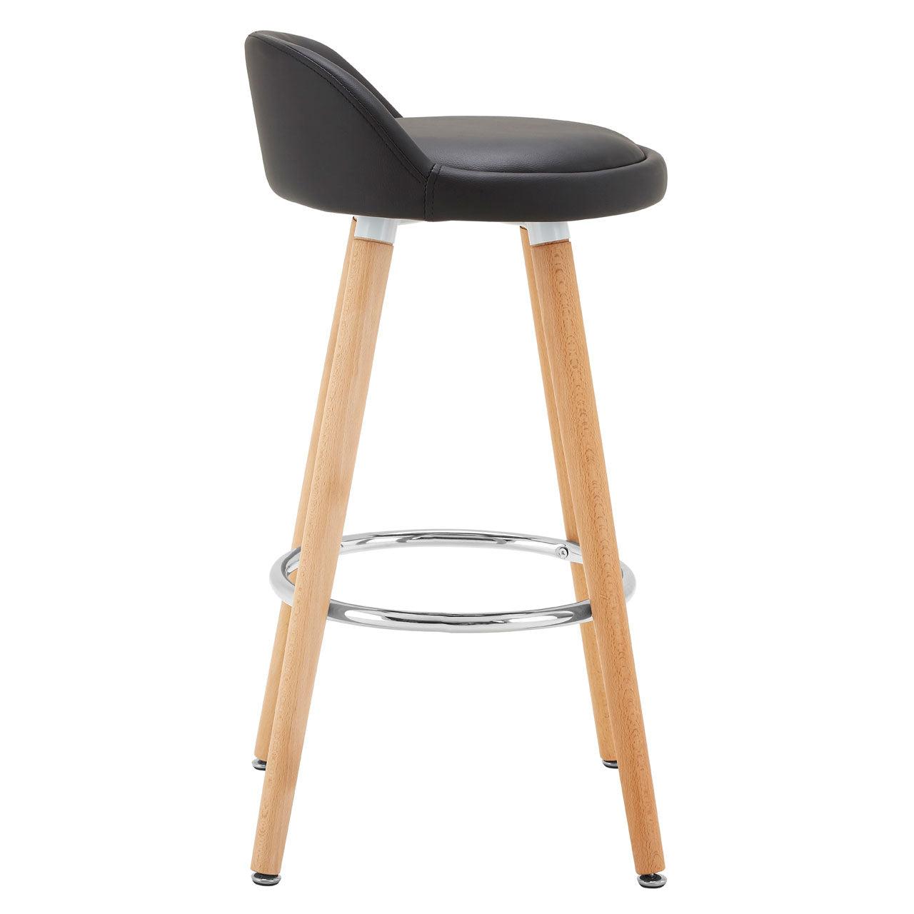 Normann Black Bar Stool Pair