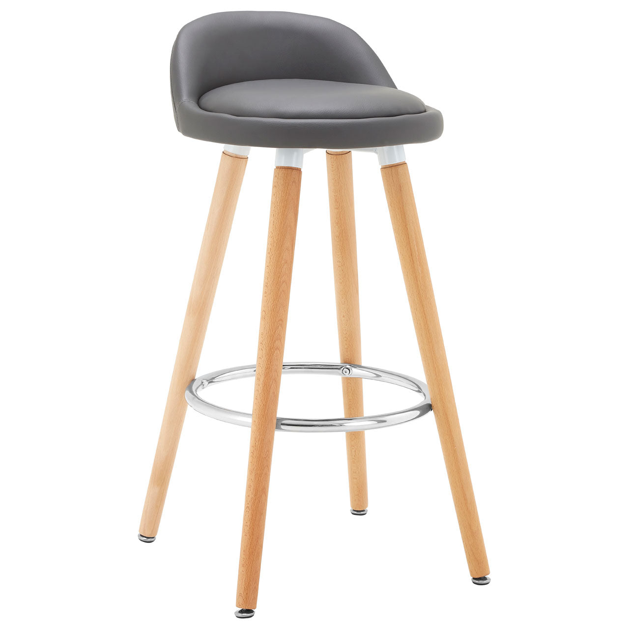 Normann Grey Bar Stool Pair