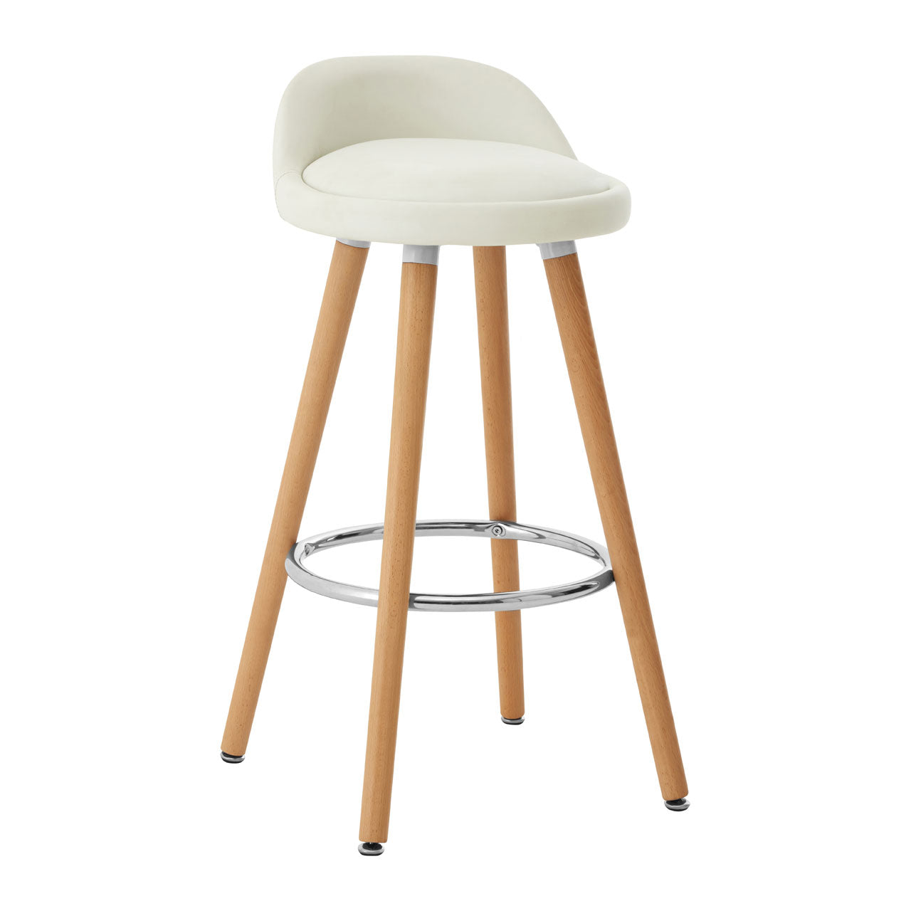 Normann White Bar Stool Pair