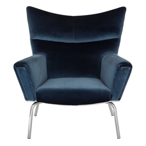 Novara Blue Velvet Chair