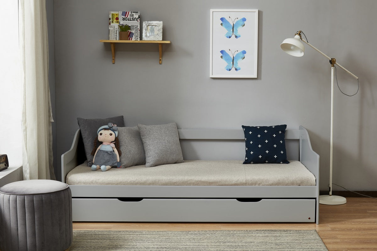 Oakland Trundle Bed in Grey - Ezzo