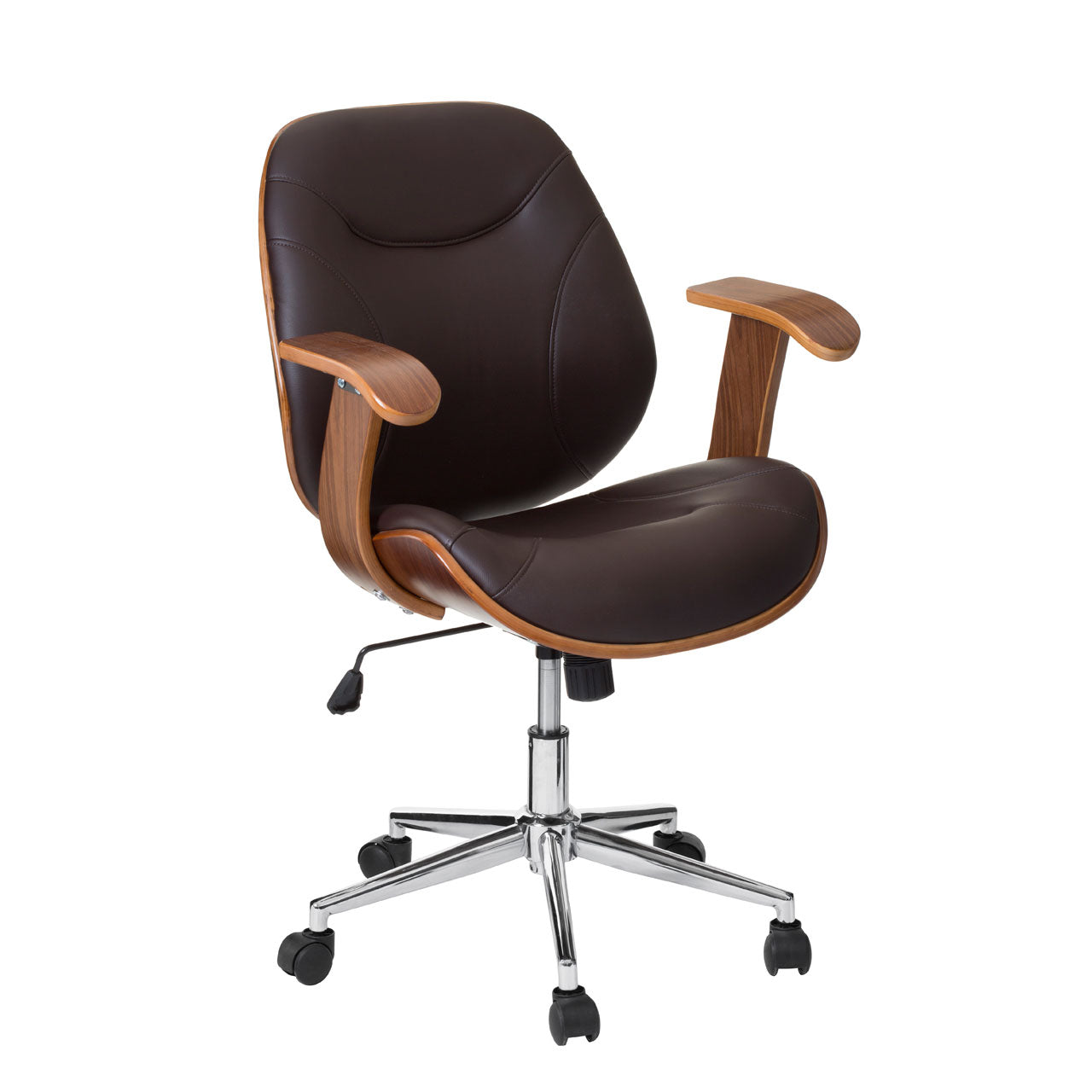 Office Chair With Arms in Brown