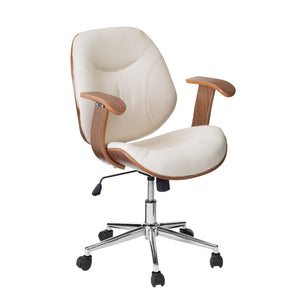 Office Chair With Arms in White