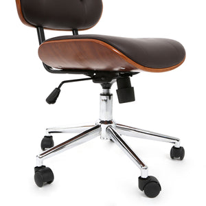 Office Chair in Brown no Arms