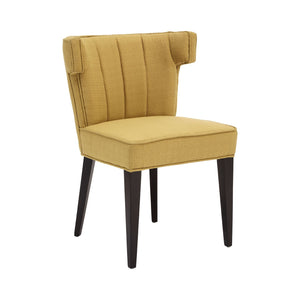 Oria Yellow Polyester Dining Chair