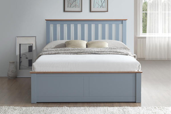 Super Tempa Queen Size Ottoman Bed In Stone Grey Fast Free Short Links Chair Design For Home Short Linksinfo