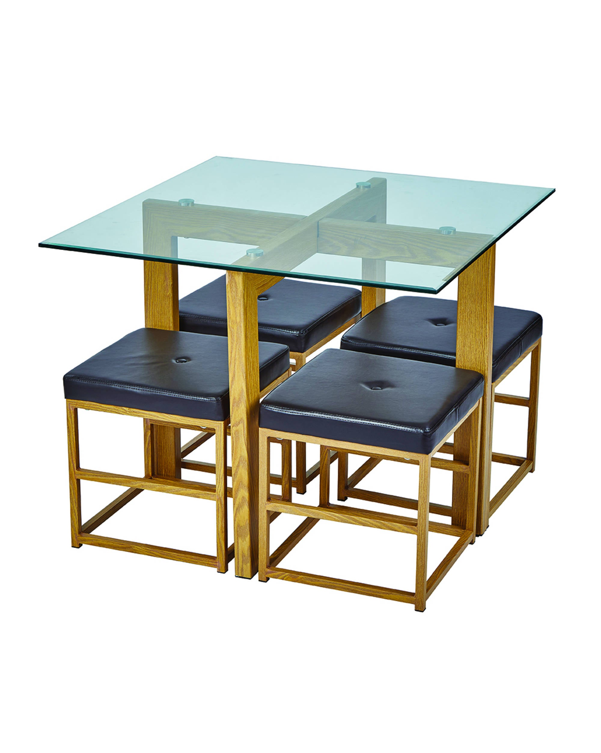 Pico Dining Set in Brown - Ezzo
