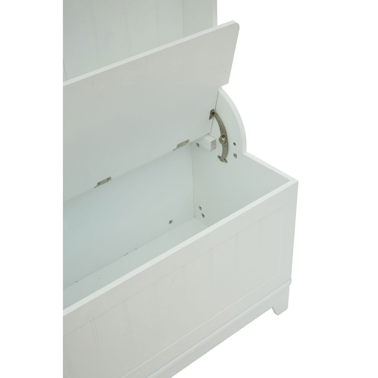 Portland Hanging White Storage Bench