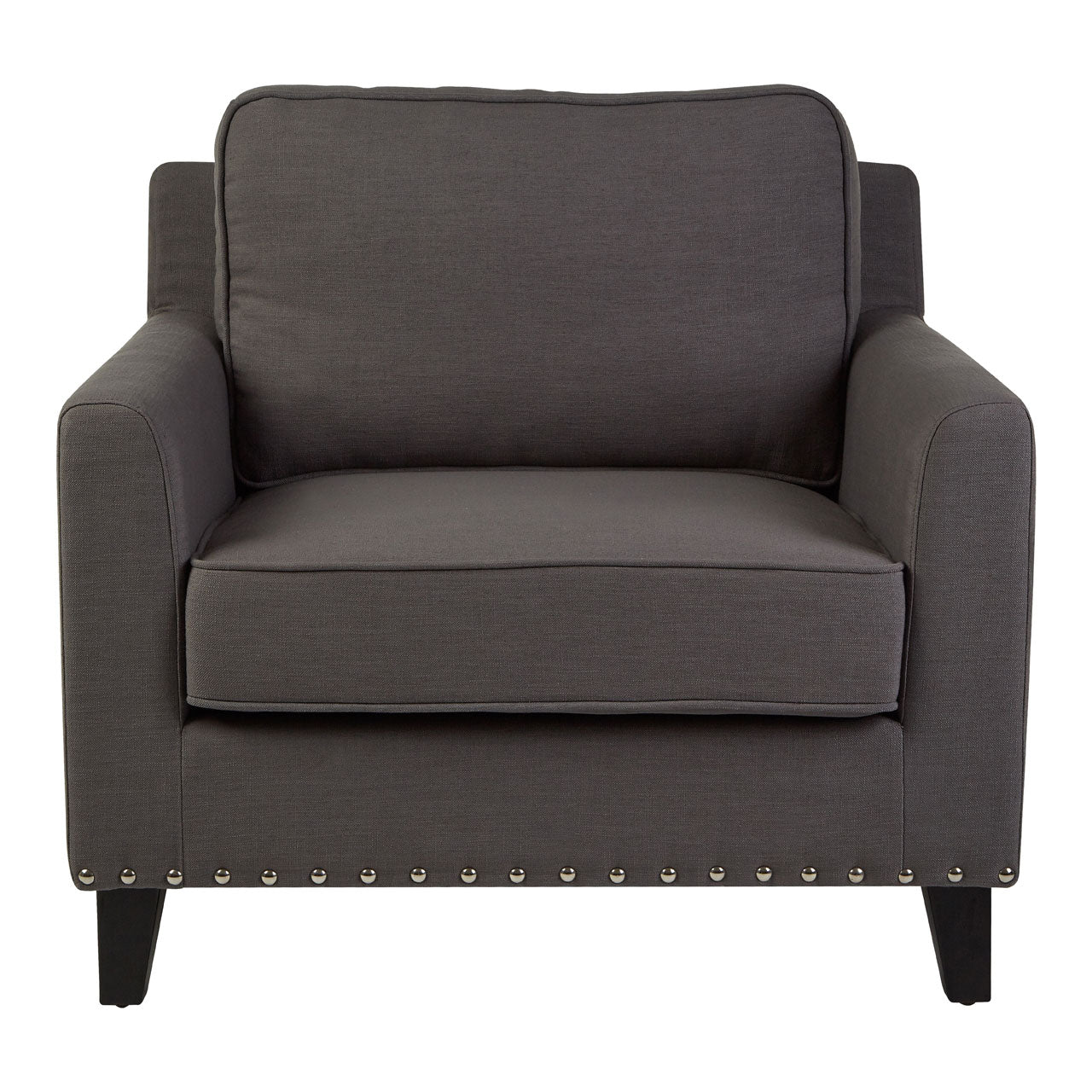 Regents Park Stud Chair in Grey