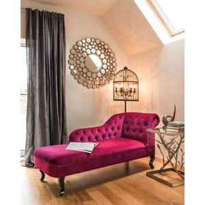 Regents Park Chesterfield Chaise Longue in Damson