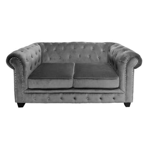 Regents Park Chesterfield Sofa in Grey