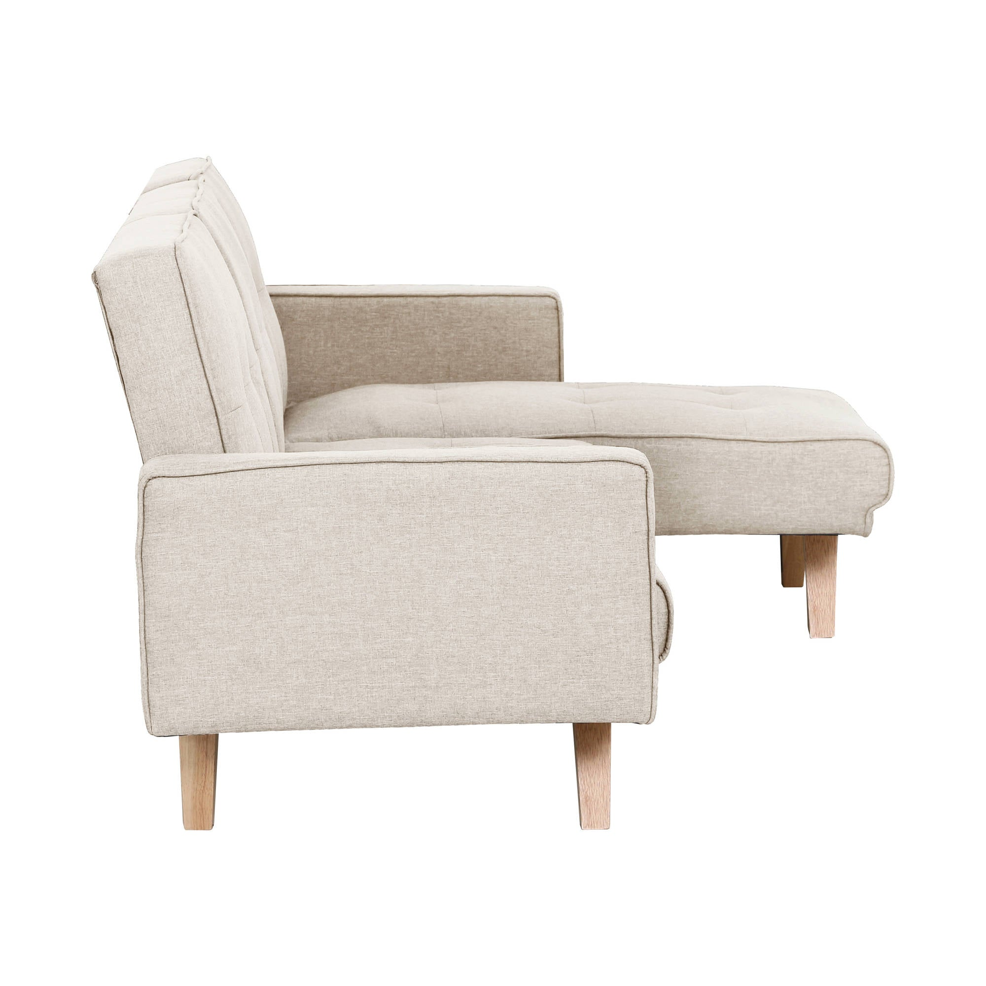 Robertson Corner Sofa Bed in Beige - Ezzo