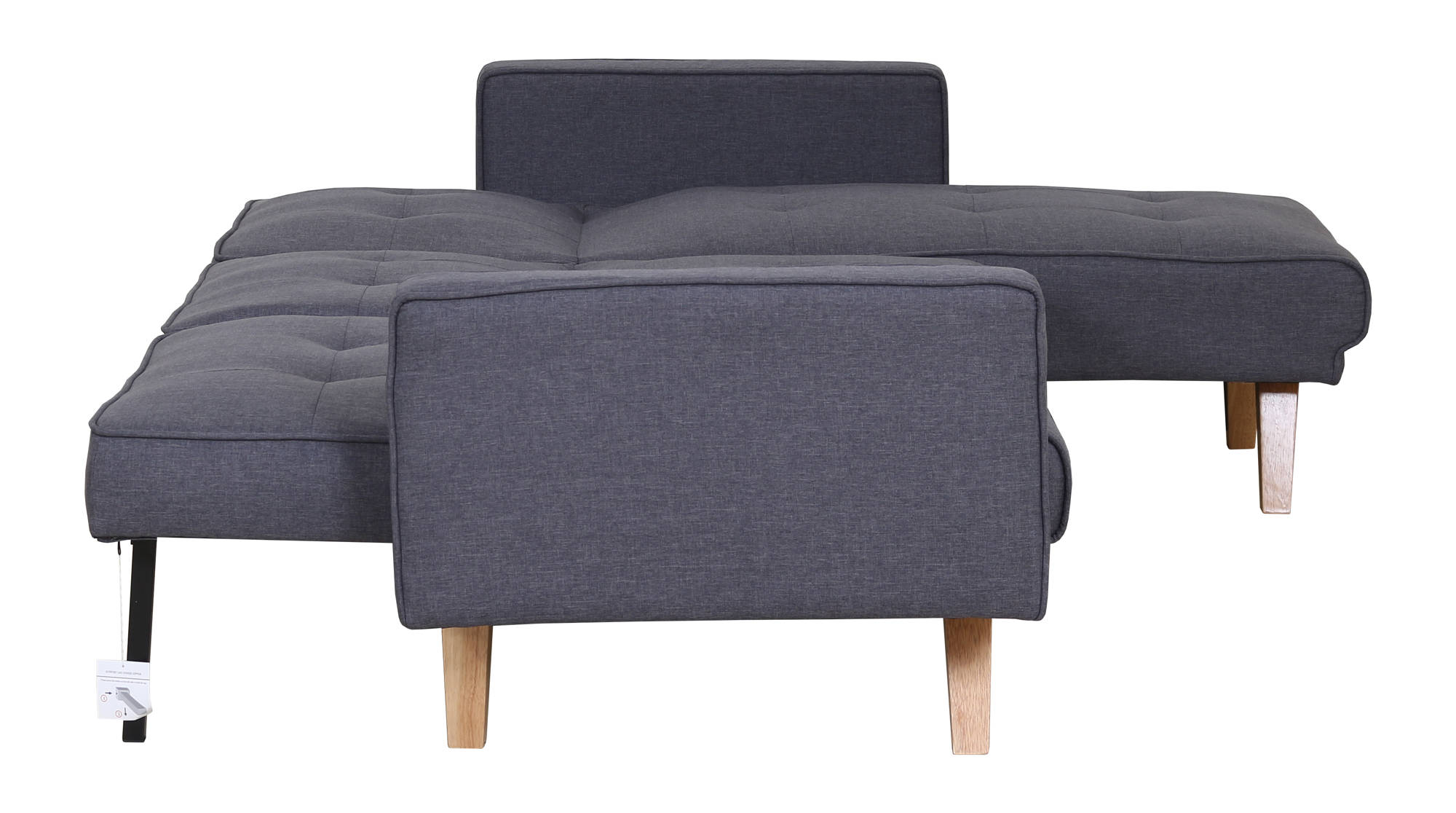 Robertson Corner Sofa Bed in Grey - Ezzo