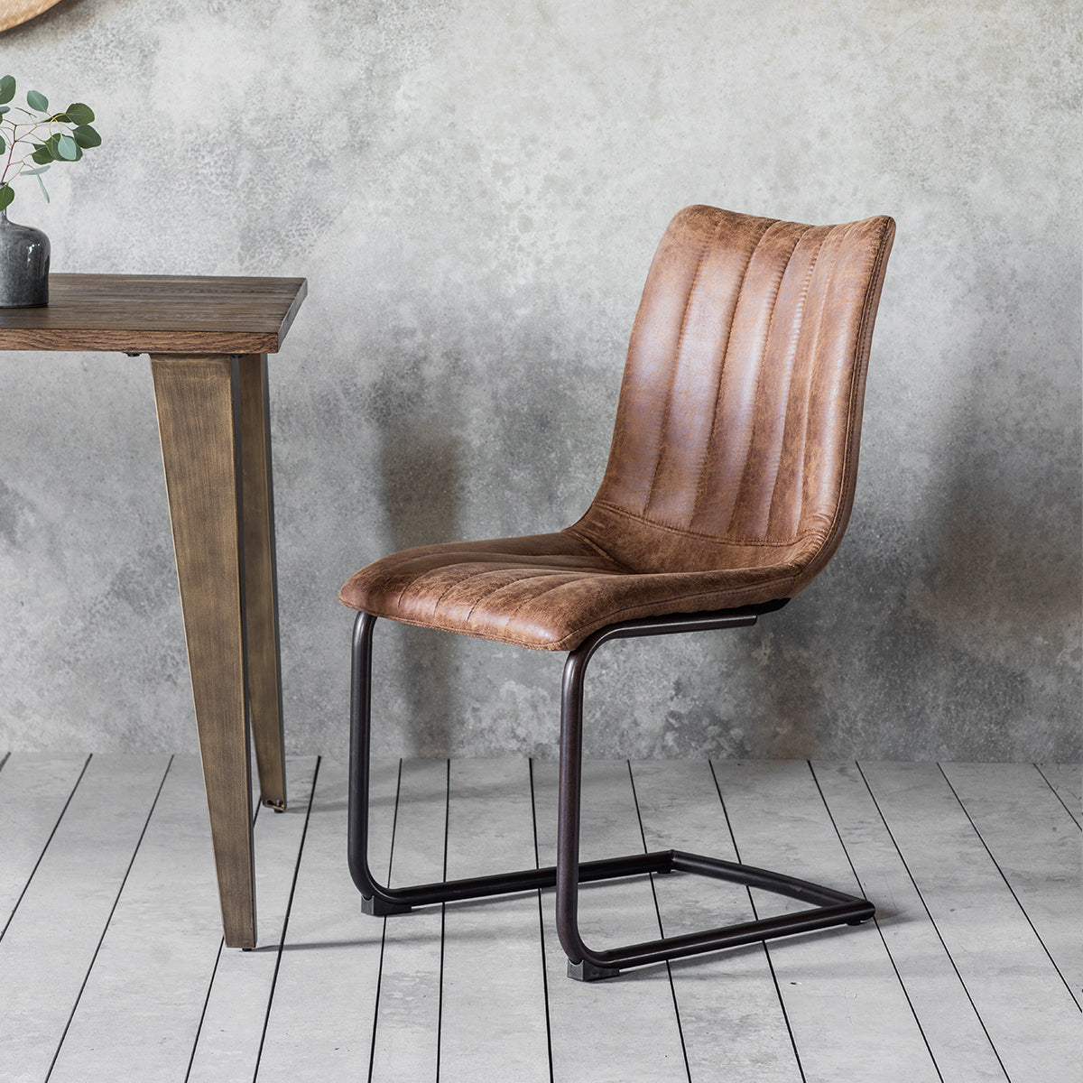 Scala Brown Chair Pair