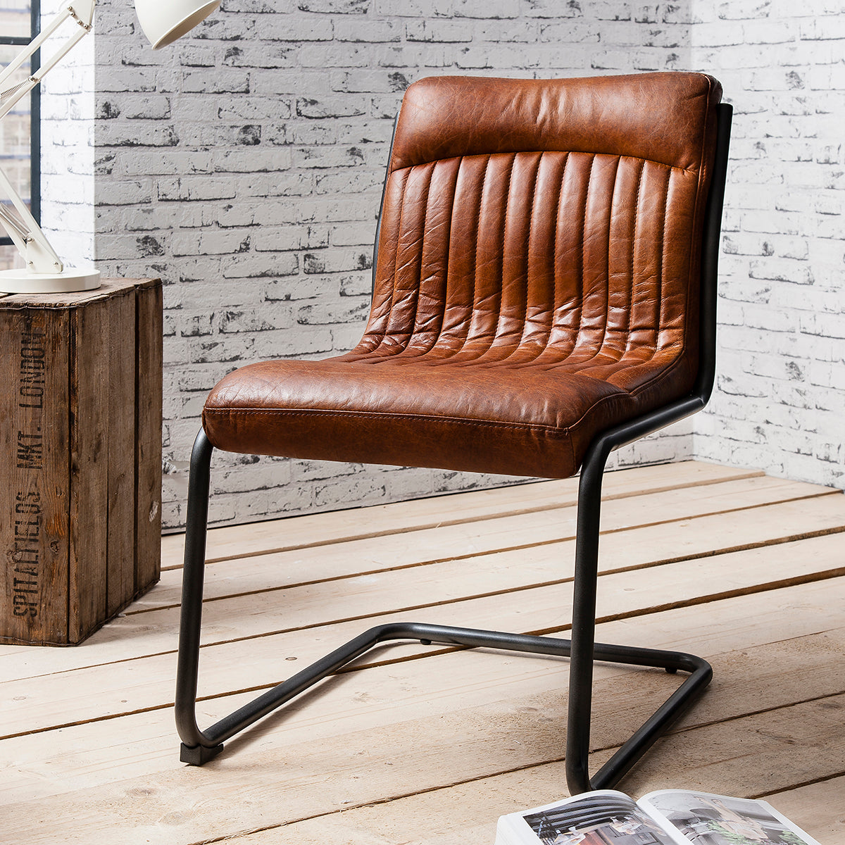 Scala Leather Chair Antique Brown - Ezzo