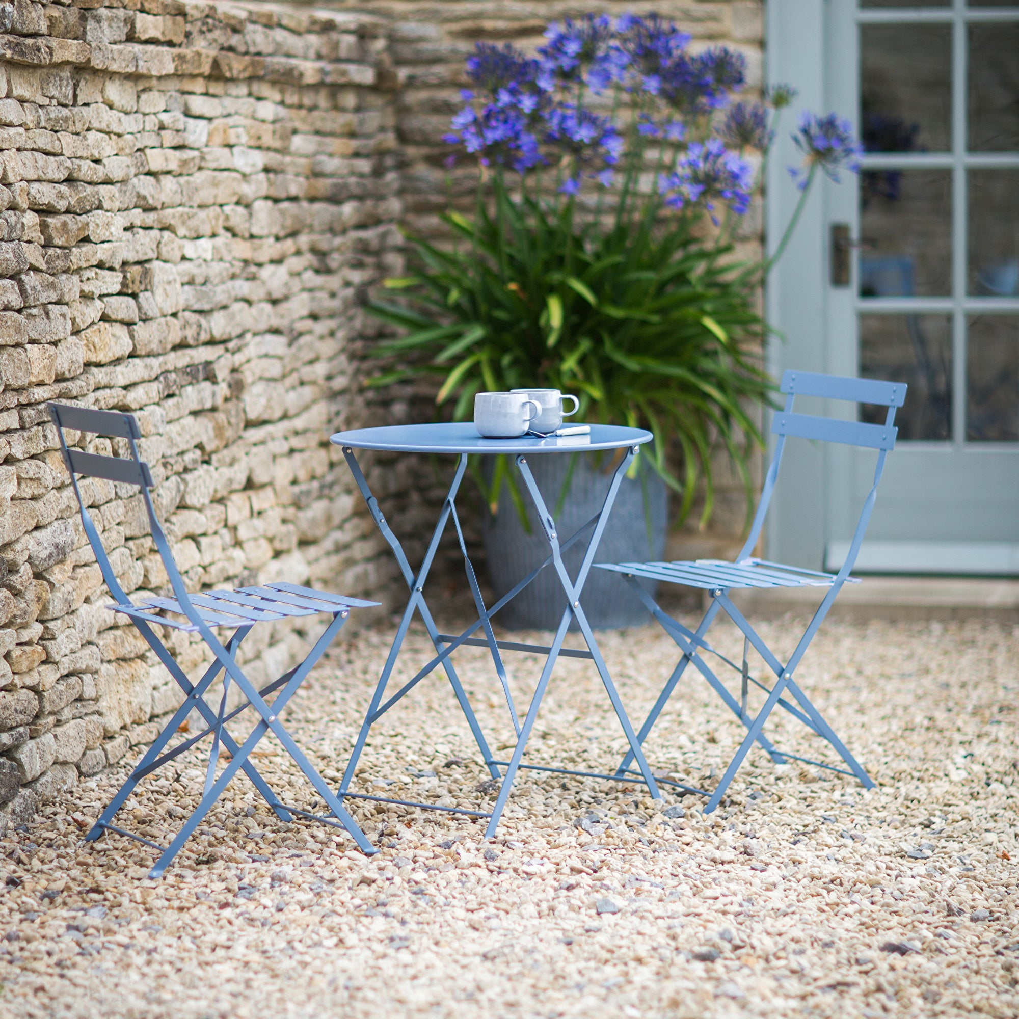 Seine Small Bistro Set in Dorset Blue - Ezzo