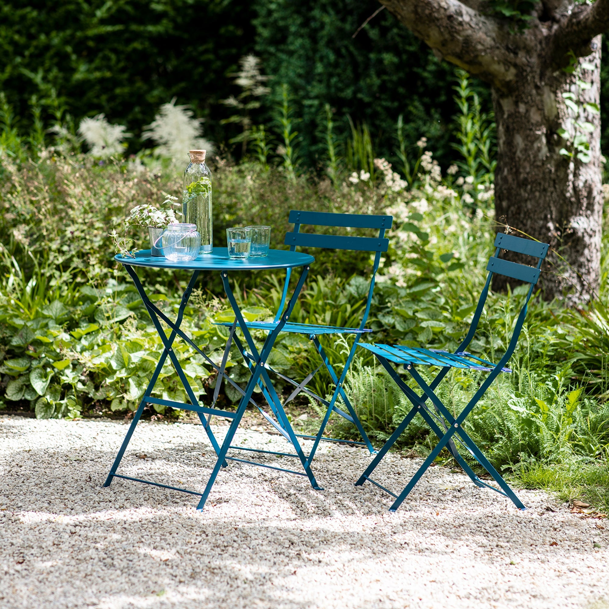 Seine Small Bistro Set in Teal - Ezzo