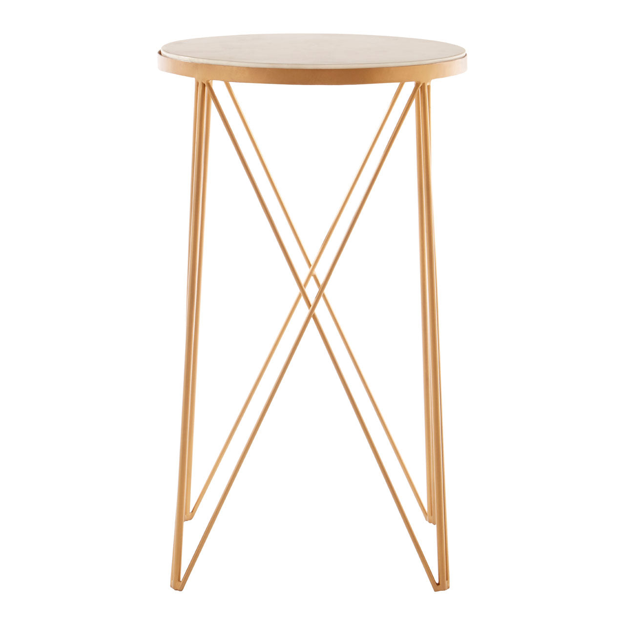 Shalimar Round Side Table Gold