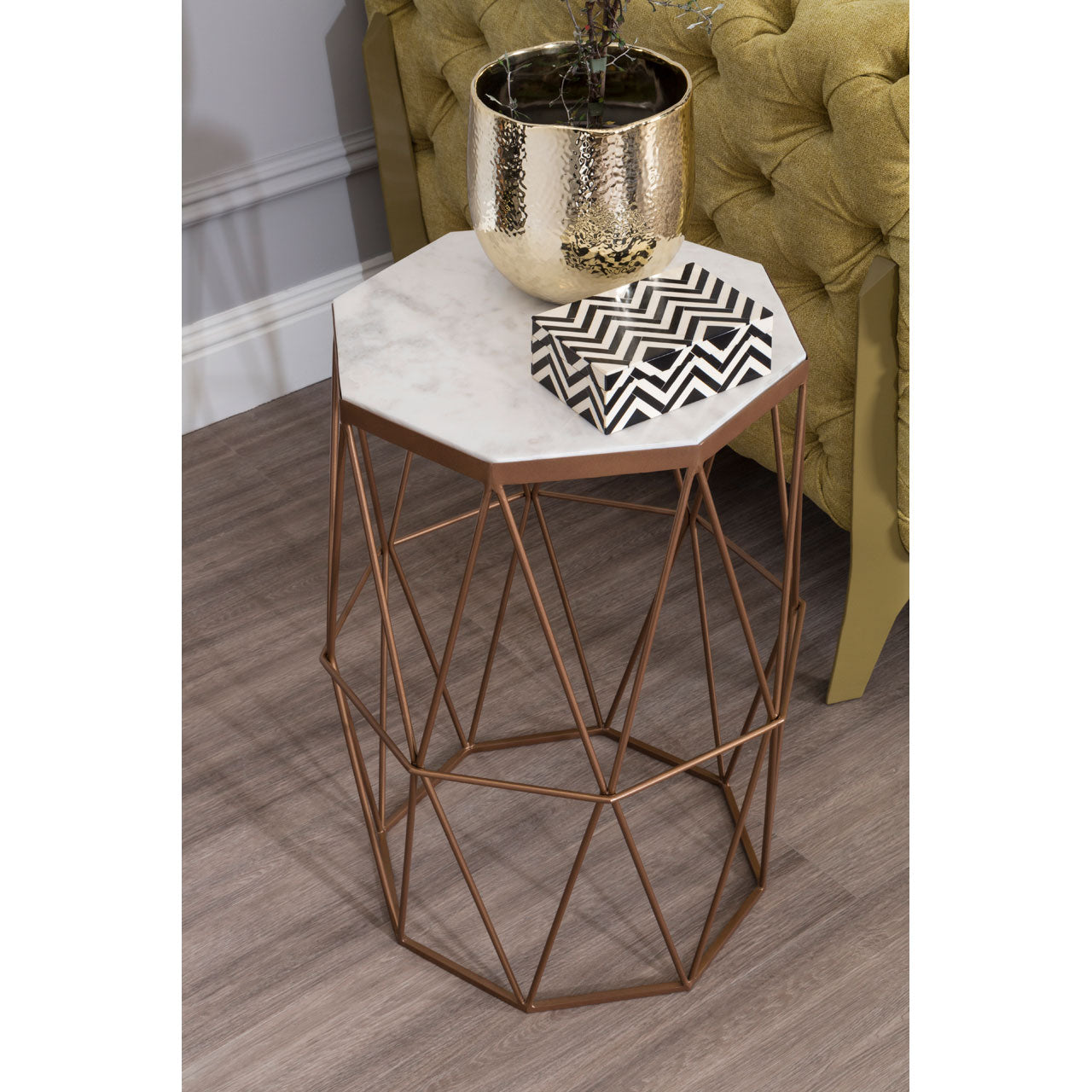 Shalimar Side Table in Gold
