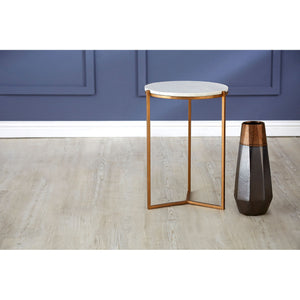 Shalimar Side Table White Marble