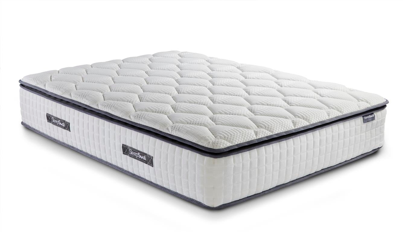 SleepSoul Bliss Double Mattress with Memory Foam Top - Ezzo