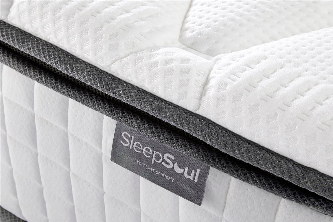 SleepSoul Bliss Single Mattress with Memory Foam Top - Ezzo