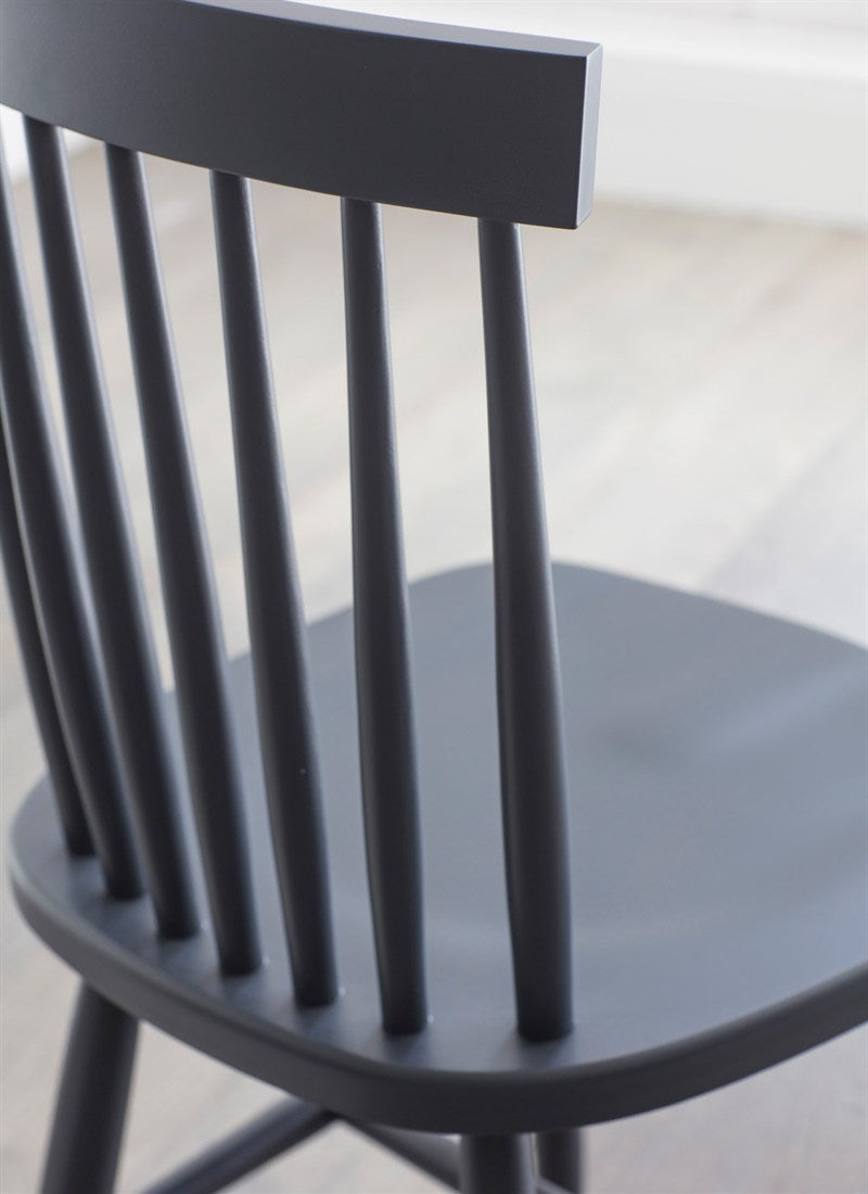 Broche Back Chair in Carbon - Ezzo