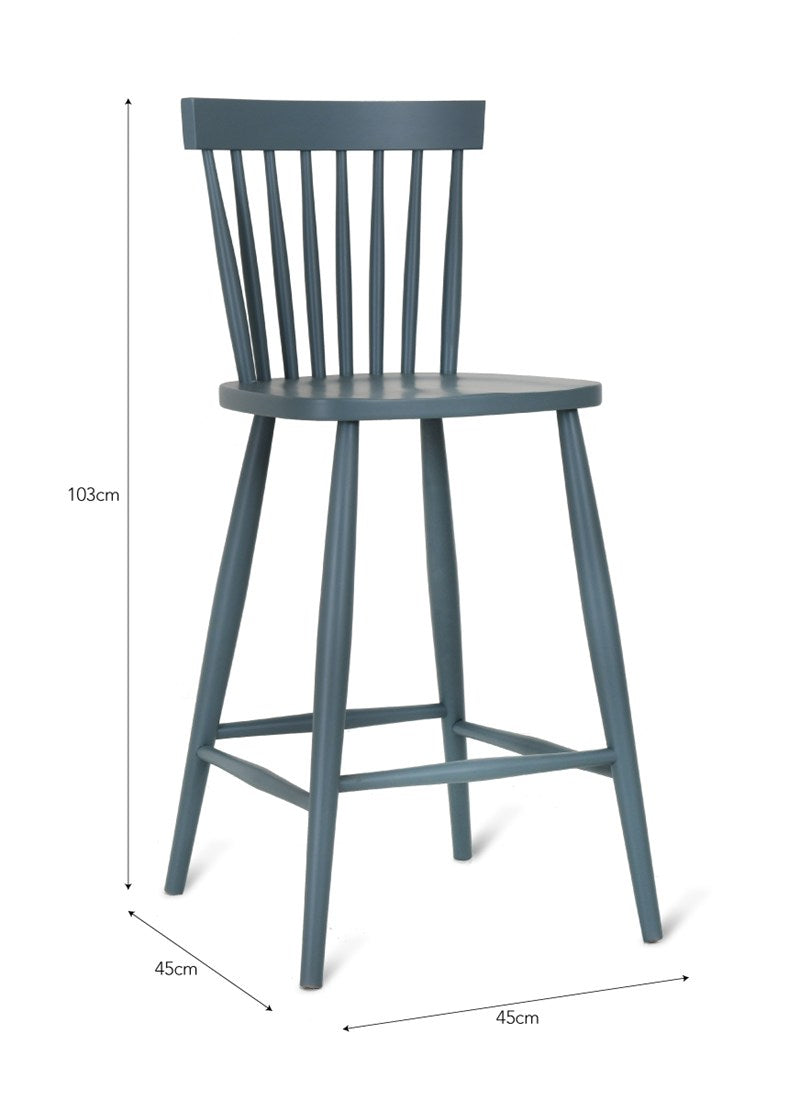 Broche Bar Stool in Charcoal - Ezzo