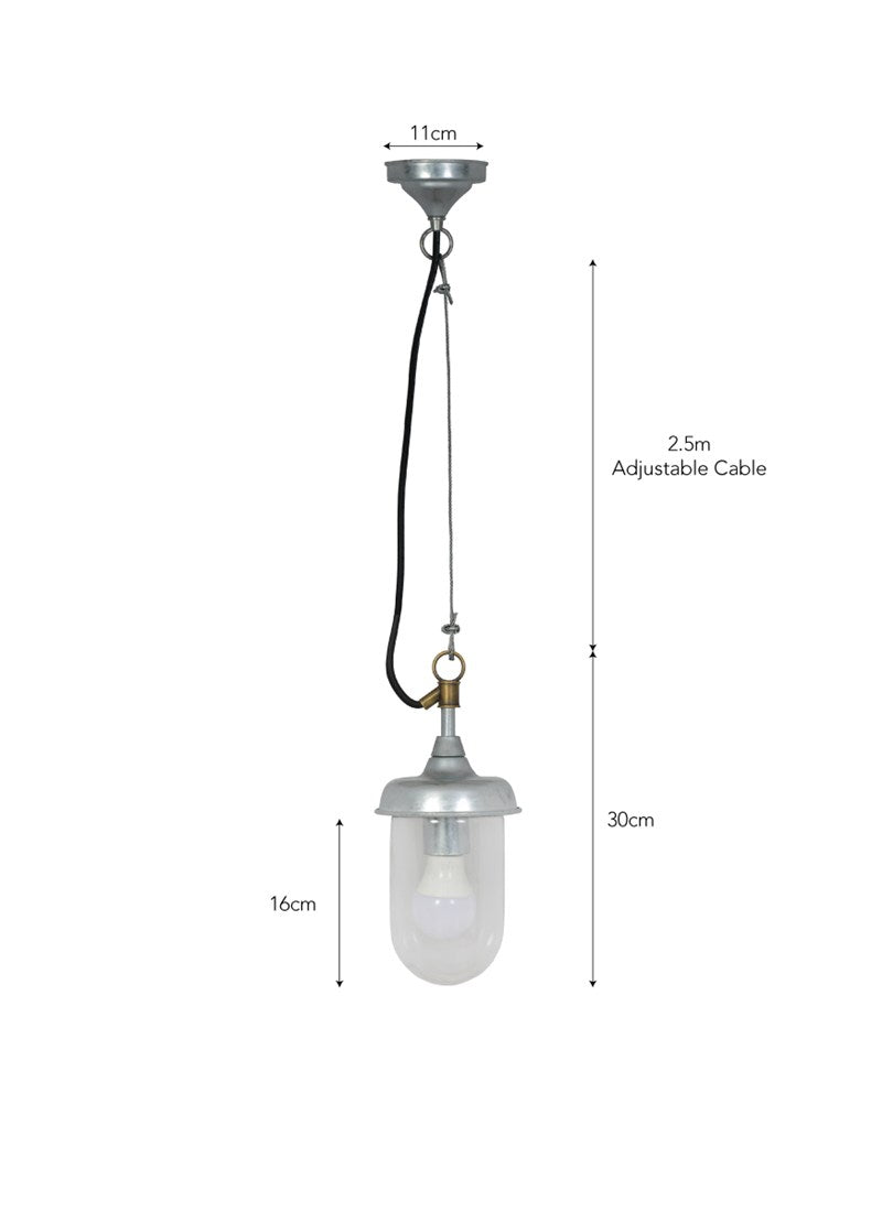 St Ives Harbour Outdoor Pendant Light