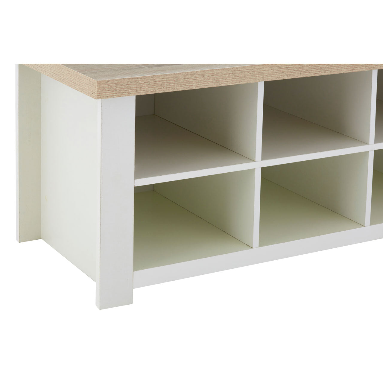 St Ives White Storage Table