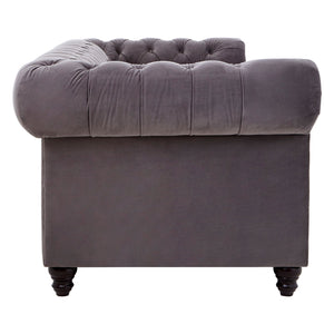 Stella Stud Detail Large Sofa Grey