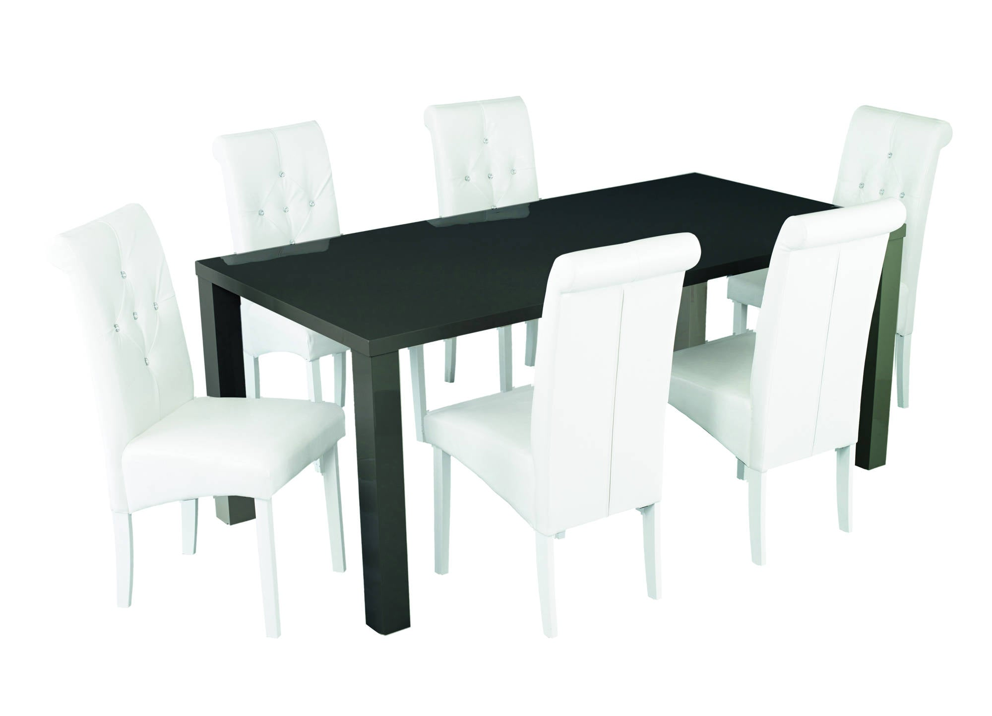 Sterling Large Dining Table in Charcoal