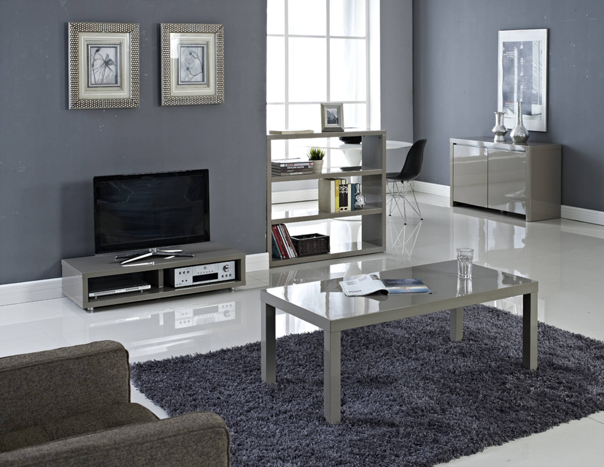 Sterling Large Dining Table in Stone - Ezzo
