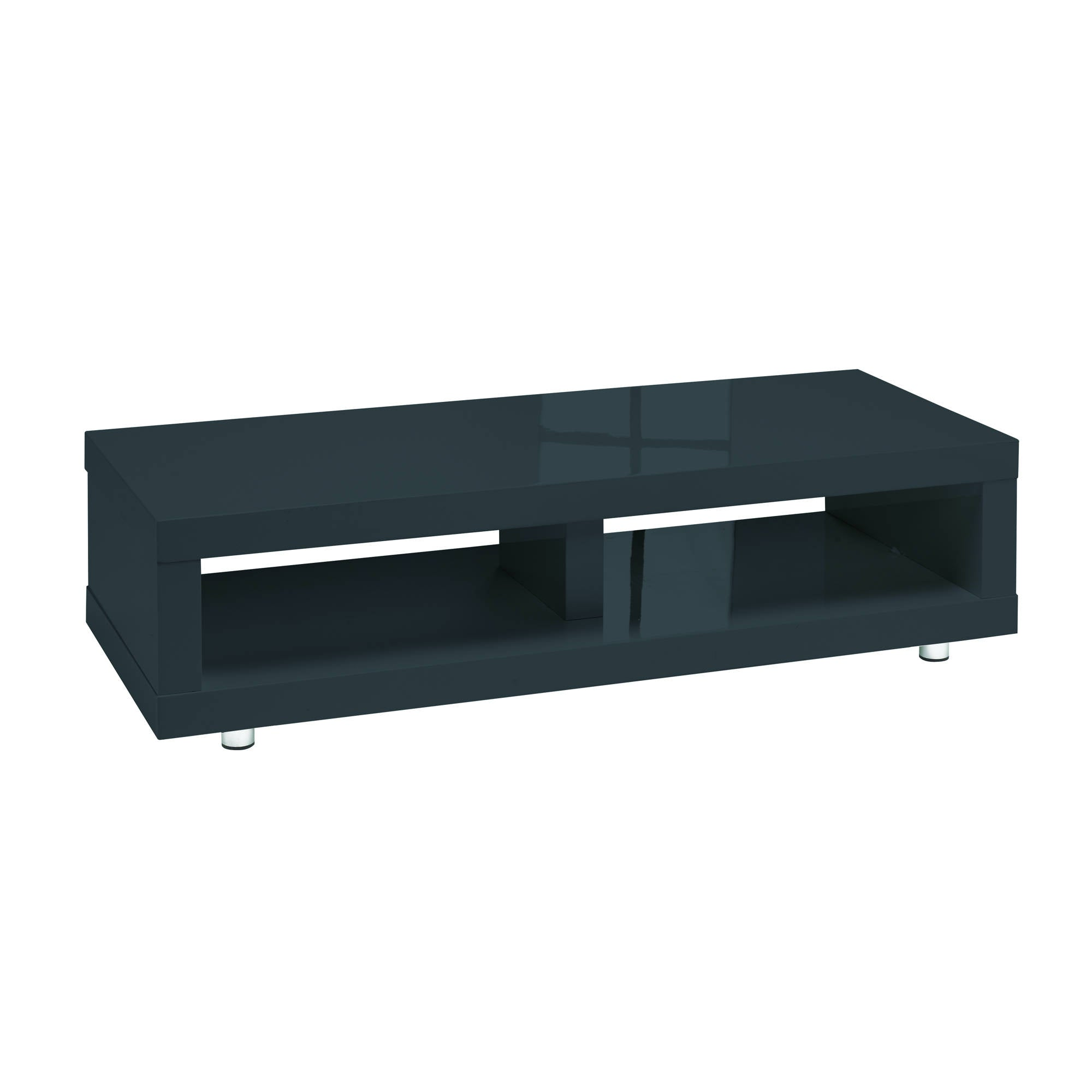 Sterling TV Media Stand in Charcoal - Ezzo