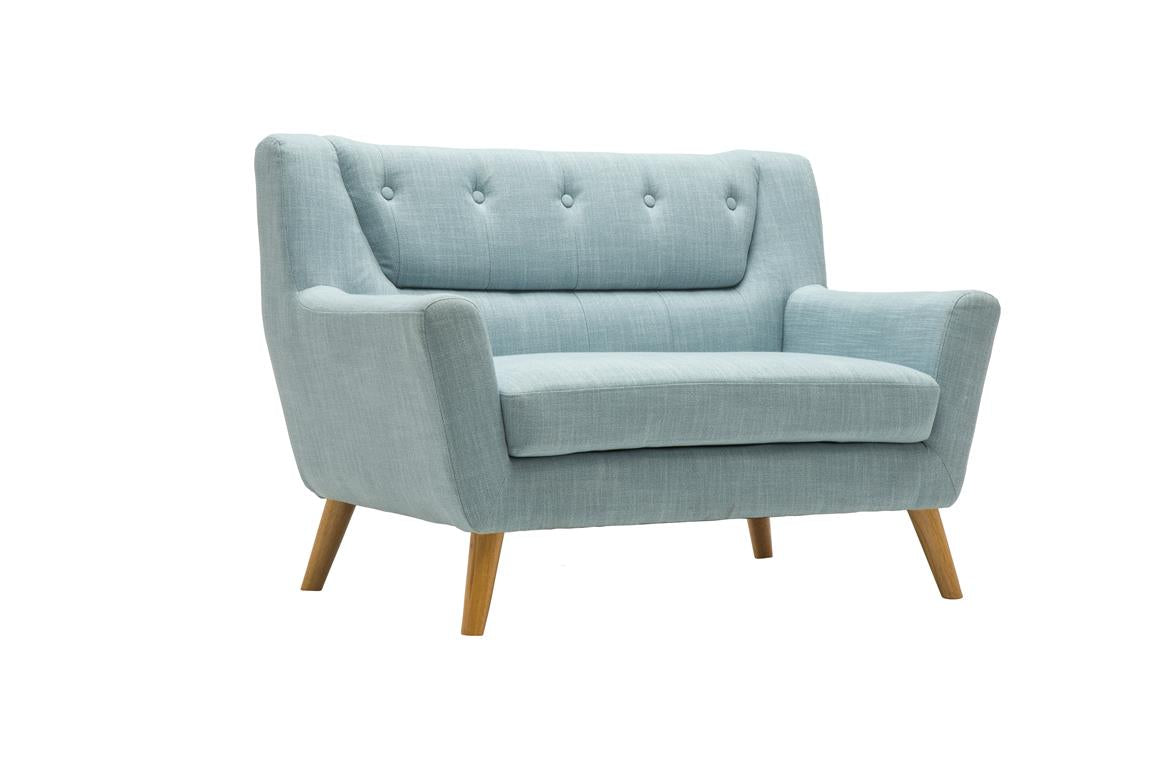 Stockwell 2 Seater Sofa in Duck Egg Blue - Ezzo