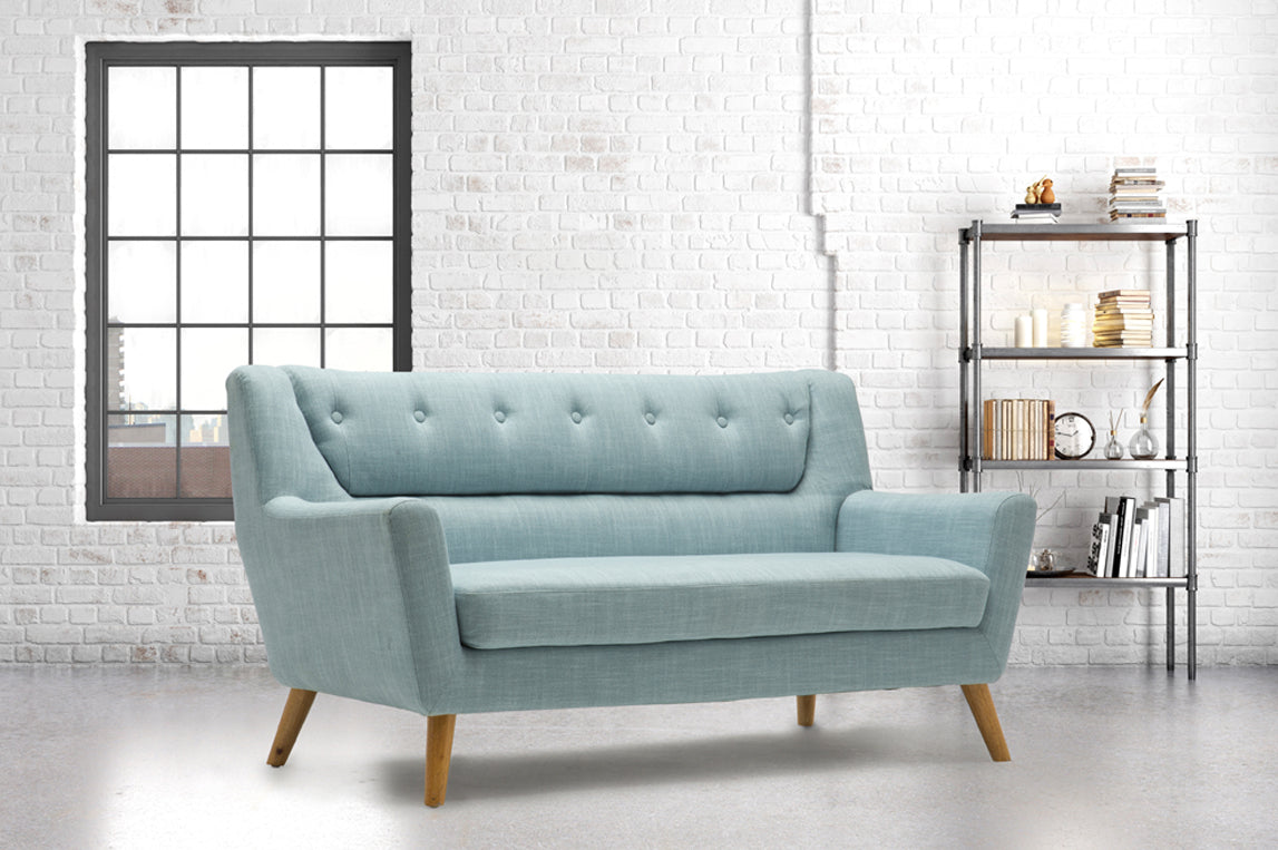 Stockwell 3 Seater Sofa in Duck Egg Blue - Ezzo