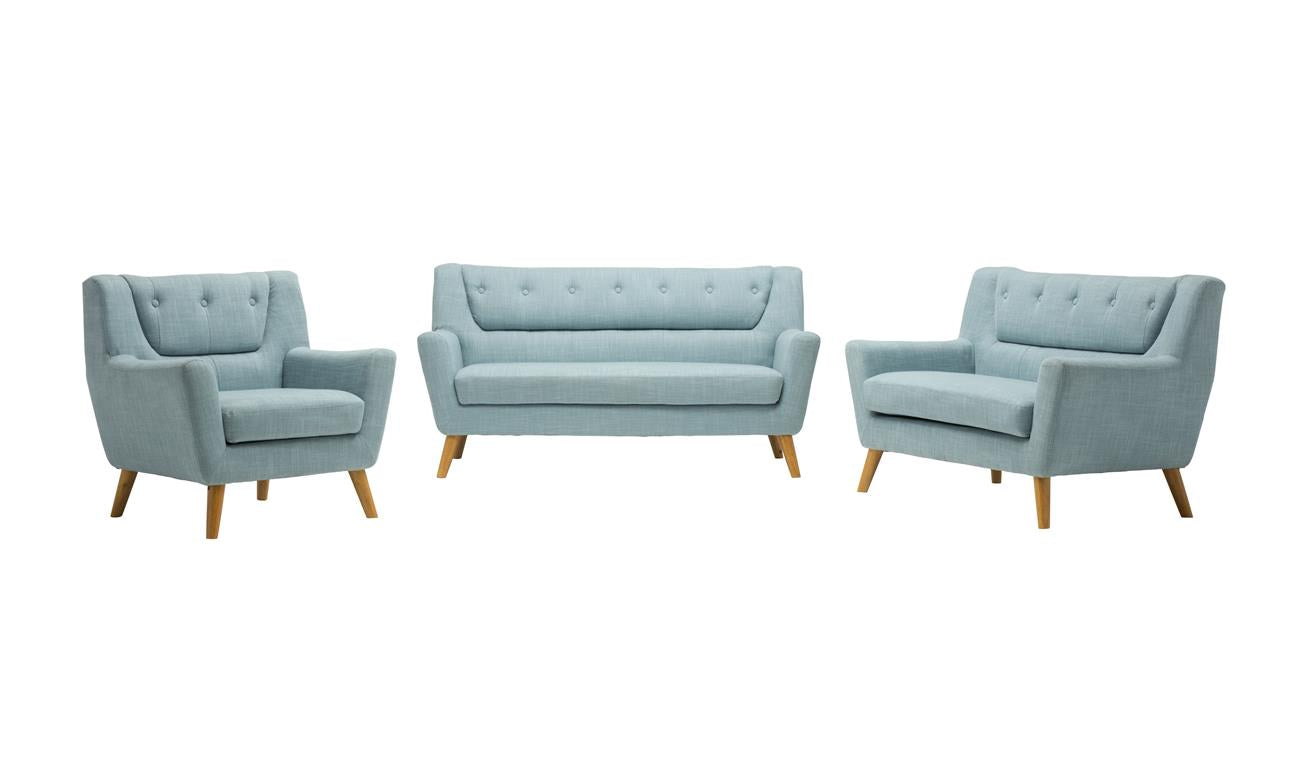 Stockwell 3 Seater Sofa in Duck Egg Blue