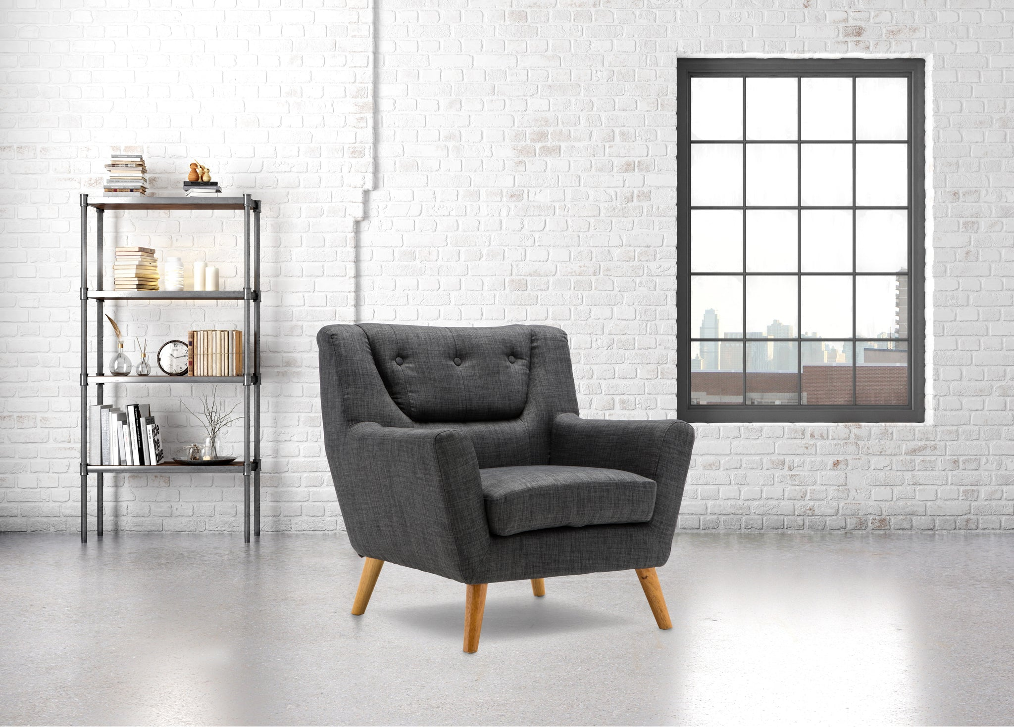 Stockwell Armchair in Grey - Ezzo