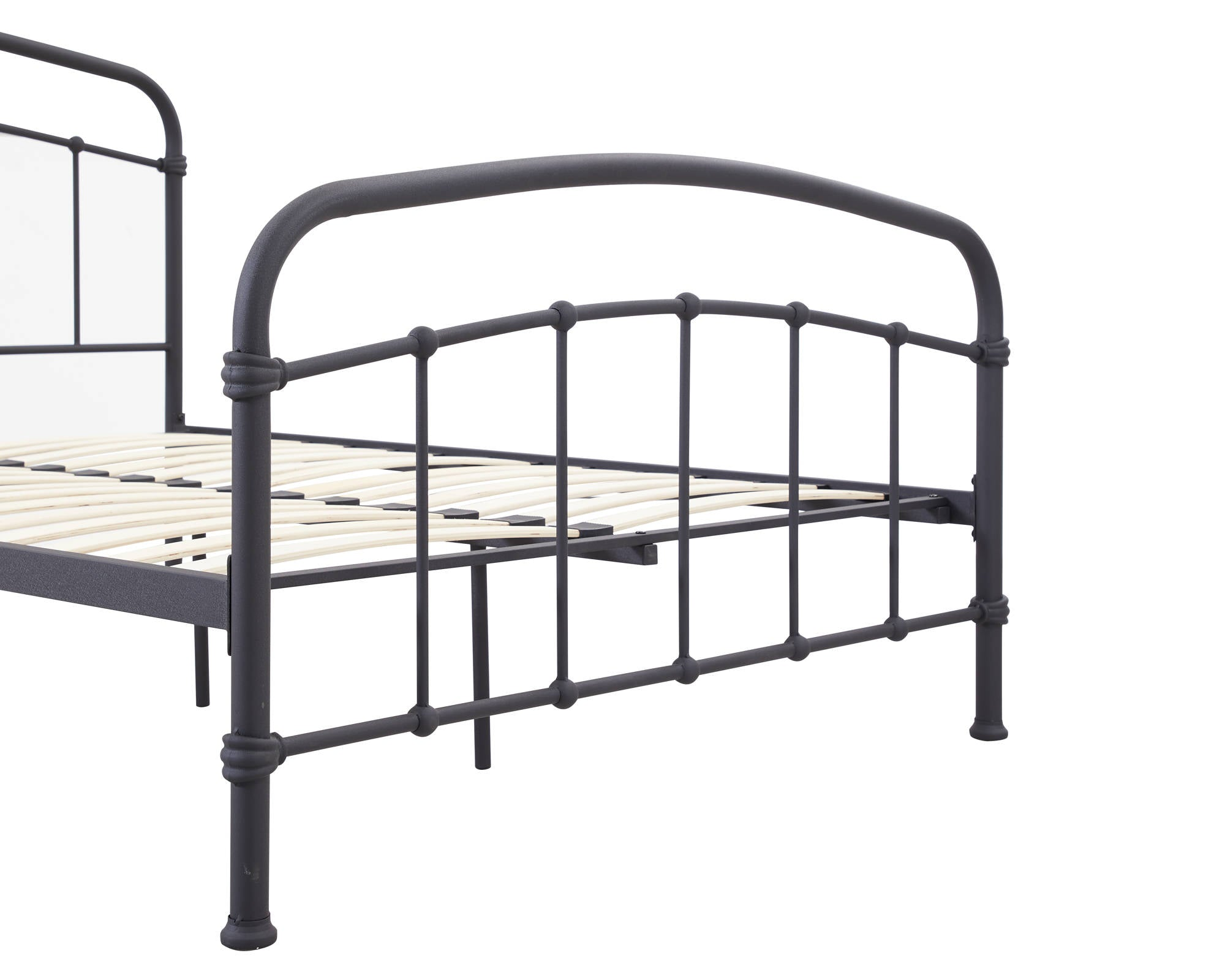 Stretton King Size Bed in Black - Ezzo