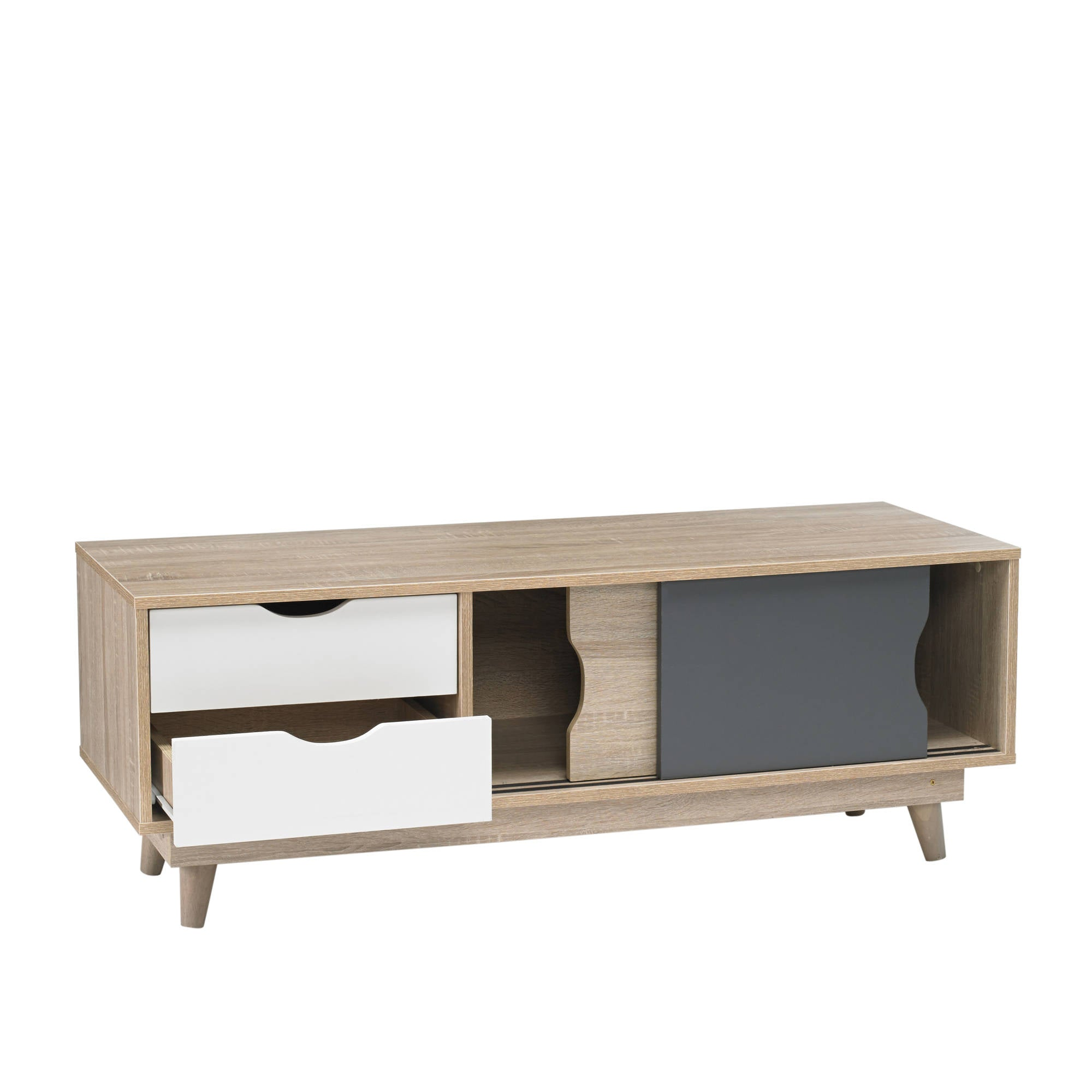 Svalbard TV Unit in Grey - Ezzo