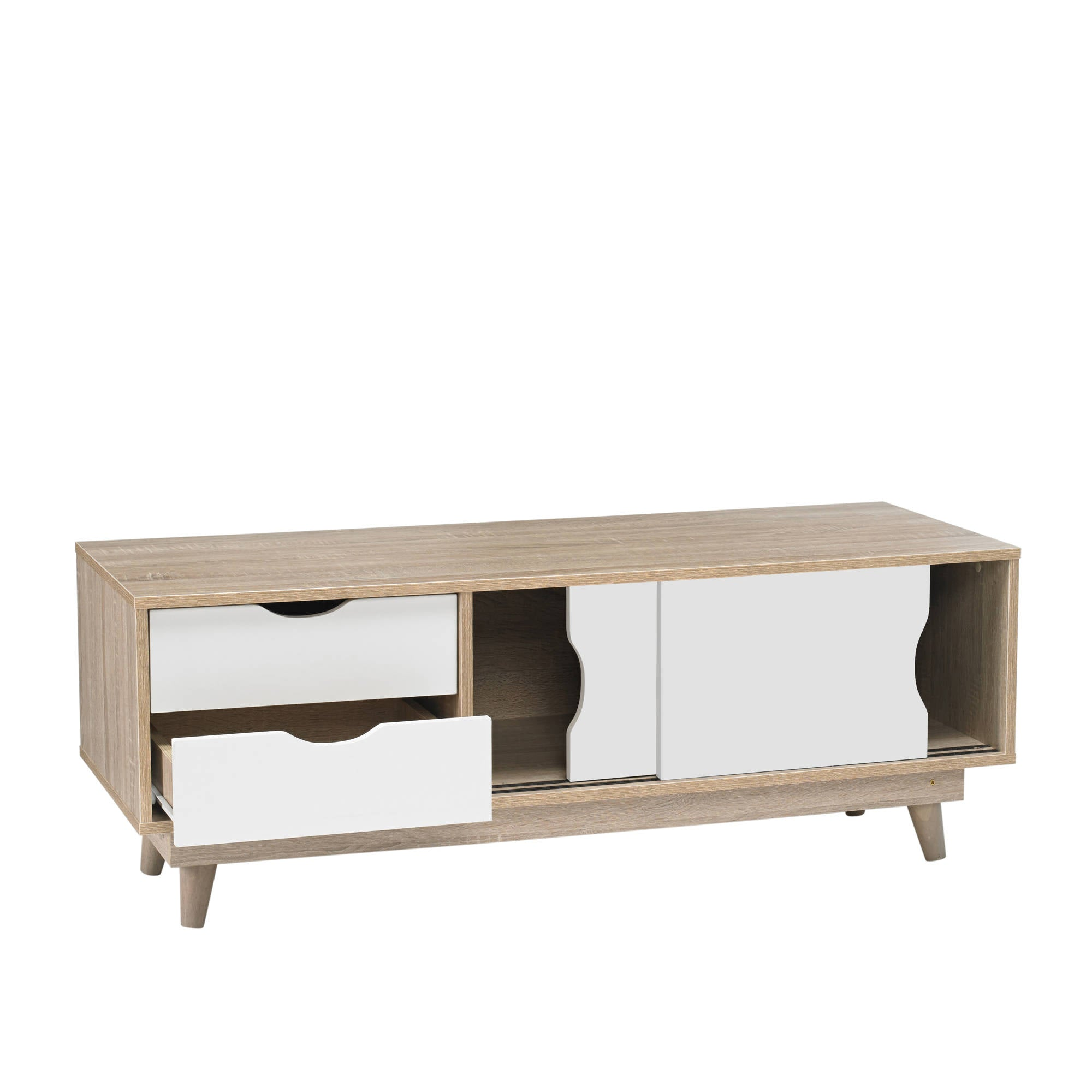 Svalbard TV Unit in White - Ezzo