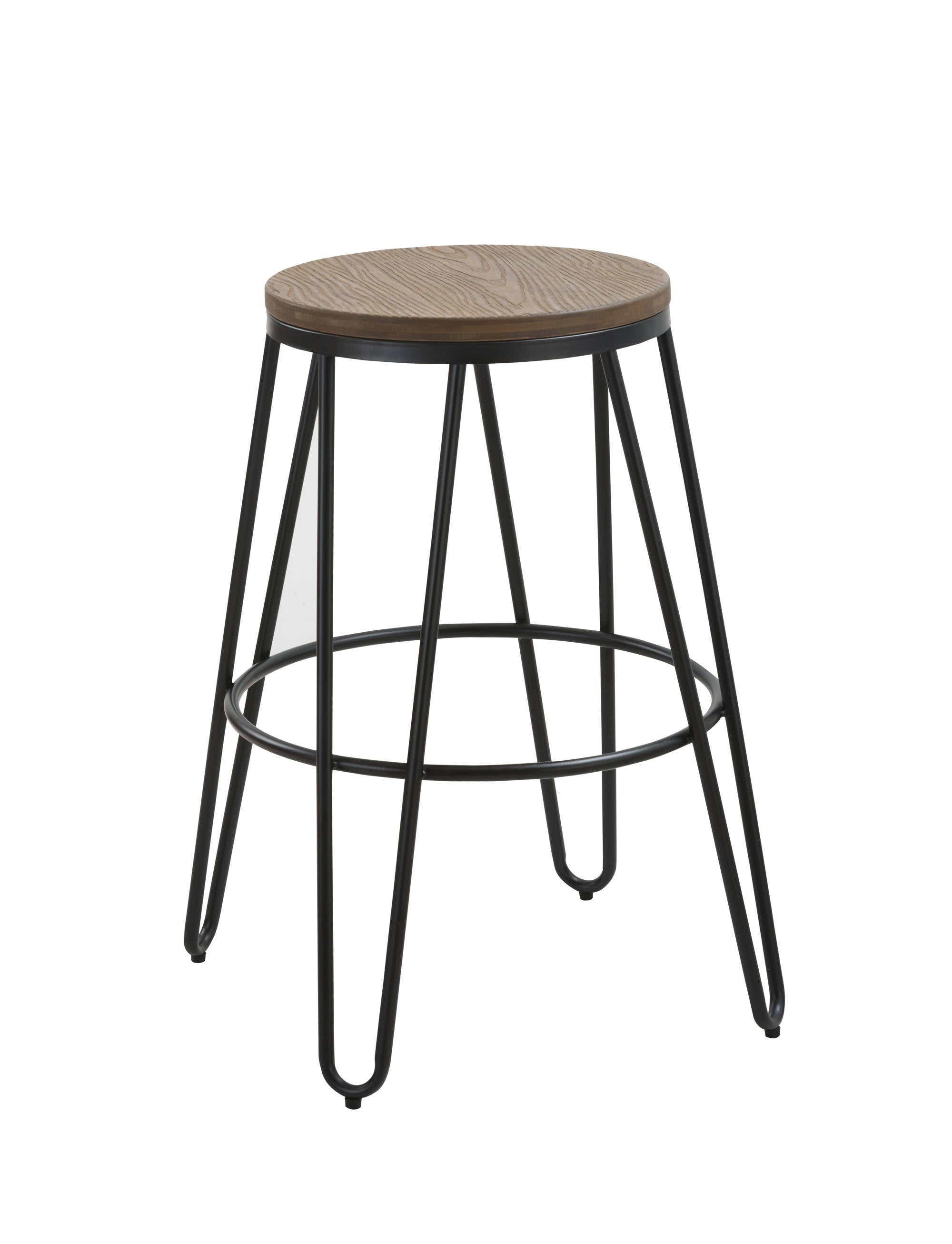 Symbol Stool with Black Legs - Ezzo