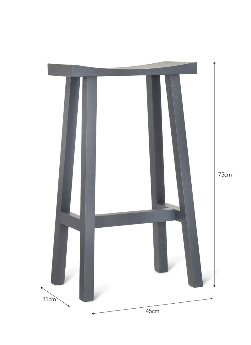 Tall Clockhouse Stool in Carbon - Ezzo