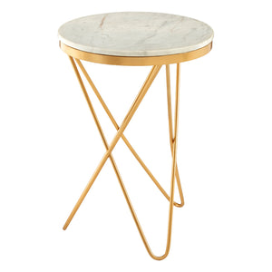 Templar Gold Iron Side Table