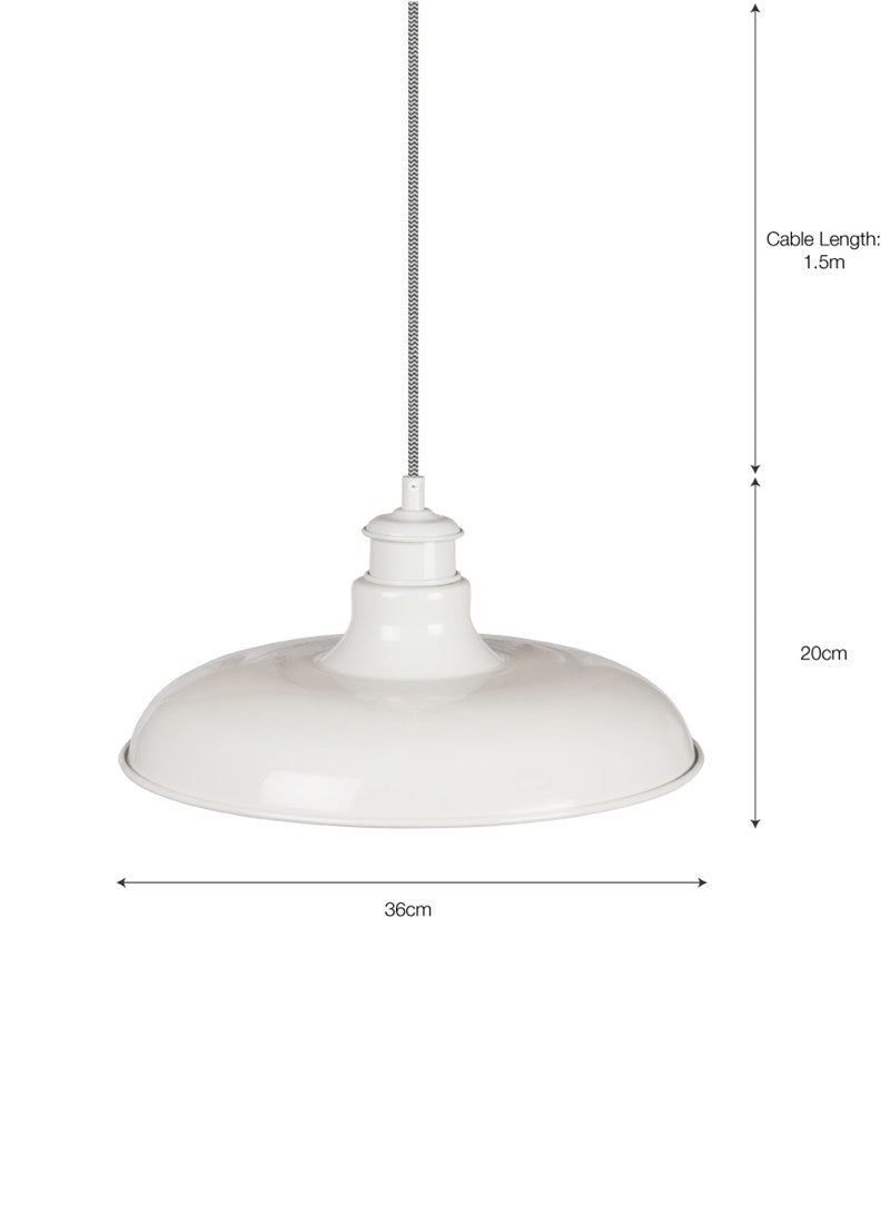 Toulon Pendant Light in Chalk - Ezzo